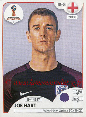 2018 - Panini FIFA World Cup Russia Stickers - N° 574 - Joe HART (Angleterre)