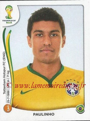 2014 - Panini FIFA World Cup Brazil Stickers - N° 041 - PAULINHO (Brésil)