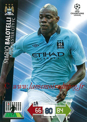 2012-13 - Adrenalyn XL champions League N° 132 - Mario BALOTELLI (Manchester City FC)