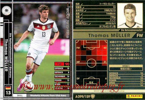 2015-16 - Panini WCCF - N° A099 - Thomas MÜLLER (Allemagne)