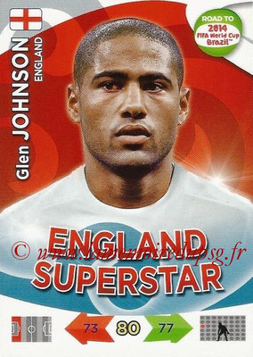2014 - Panini Road to FIFA World Cup Brazil Adrenalyn XL - N° 062 - Glen JOHNSON (Angleterre)