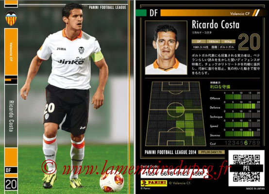 Panini Football League 2014 - PFL08 - N° 049 - Ricardo COSTA (FC Valence)