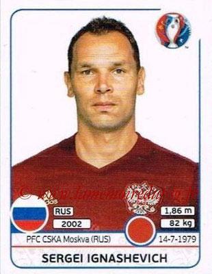 Panini Euro 2016 Stickers - N° 163 - Sergei IGNASHEVICH (Russie)