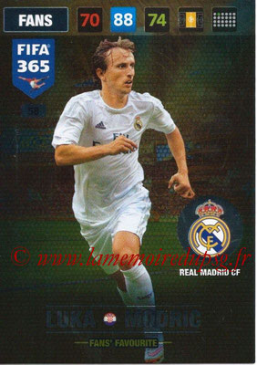 2016-17 - Panini Adrenalyn XL FIFA 365 - N° 058 - Luka MODRIC (Real Madrid CF) (Fans' Favourite)