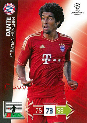 2012-13 - Adrenalyn XL champions League N° 047 - DANTE (FC Bayern Munich)