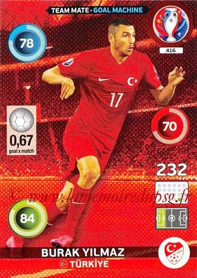 Panini Euro 2016 Cards - N° 416 - Burak YILMAZ (Turquie) (Goal Machine)