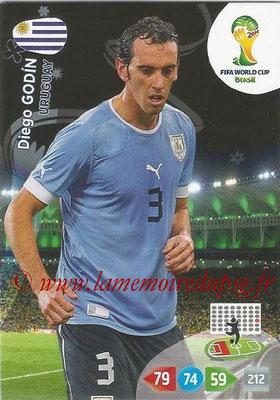 2014 - Panini FIFA World Cup Brazil Adrenalyn XL - N° 306 - Diego GODIN (Uruguay)