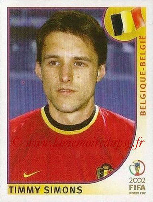 2002 - Panini FIFA World Cup Stickers - N° 559 - Timmy SIMONS (Belgique)