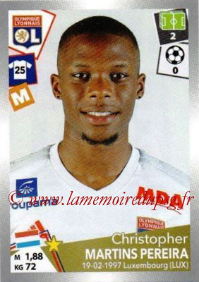 2017-18 - Panini Ligue 1 Stickers - N° 194 - Christophe MARTINS PEREIRA (Lyon)