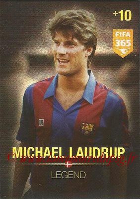 2015-16 - Panini Adrenalyn XL FIFA 365 - N° 370 - Michael LAUDRUP (Danemark) (Legend)