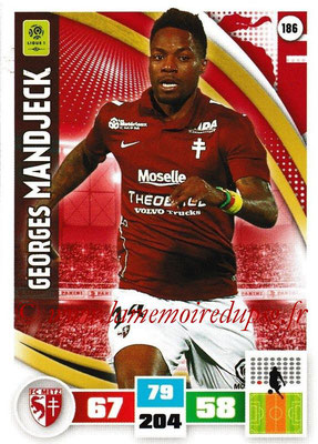 2016-17 - Panini Adrenalyn XL Ligue 1 - N° 186 - Georges MANDJECK (Metz)