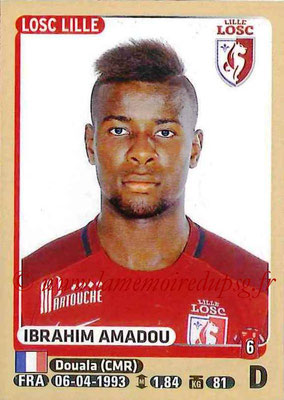 2015-16 - Panini Ligue 1 Stickers - N° 155 - Ibrahim AMADOU (Lille OSC)