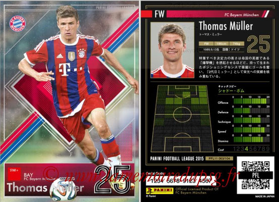 Panini Football League 2015 - PFL11 - N° 063 - Thomas MÜLLER (Bayern Munich) (Star +)