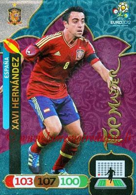 Panini Euro 2012 Cards Adrenalyn XL - N° 303 - Xavi HERNANDEZ (Espagne) (Top Master)