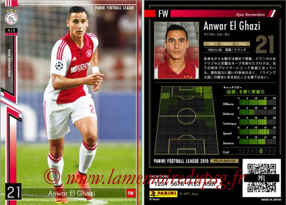 Panini Football League 2015 - PFL10 - N° 080 - Anwar EL GHAZI (Ajax)
