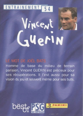 N° 054 - Vincent GUERIN (Verso)