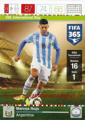 2015-16 - Panini Adrenalyn XL FIFA 365 - N° 320 - Marcos ROJOS (Argentine) (International Star)