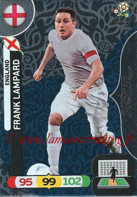 Panini Euro 2012 Cards Adrenalyn XL - N° 281 - Frank LAMPARD (Angleterre) (Master)