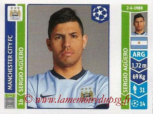 2014-15 - Panini Champions League N° 371 - Sergio AGEURO (Manchester City FC)