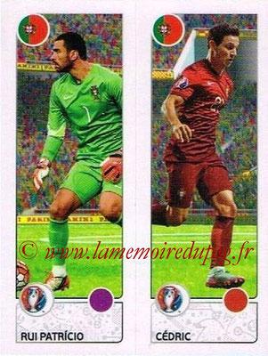Panini Euro 2016 Stickers - N° 598 - Rui PATRICIO + CEDRIC (Portugal)