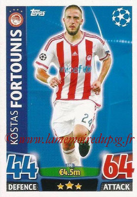 2015-16 - Topps UEFA Champions League Match Attax - N° 100 - Kostas FORTOUNIS (Olympiacos FC)