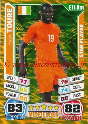 Topps Match Attax England 2014 - N° 158 - Yaya TOURE (Irlande) (Star Player)