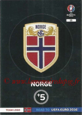Panini Road to Euro 2016 Cards - N° 015 - Ecusson Norvège