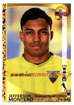 Panini Copa America Centenario USA 2016 Stickers - N° 152 - Jefferson MONTERO (Equateur)