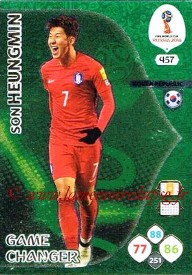 2018 - Panini FIFA World Cup Russia Adrenalyn XL - N° 457 - Son HEUNG-MIN (Corée du Sud) (Game Changer)