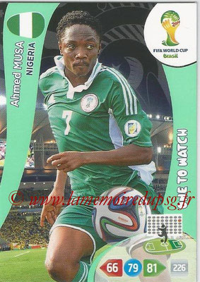2014 - Panini FIFA World Cup Brazil Adrenalyn XL - N° 266 - Ahmed MUSA (Nigeria) (One to watch)