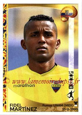 Panini Copa America Centenario USA 2016 Stickers - N° 154 - Fidel MARTINEZ (Equateur)