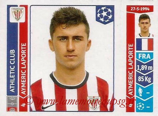 2014-15 - Panini Champions League N° 600 - Aymeric LAPORTE (Athletic Club Bilbao)