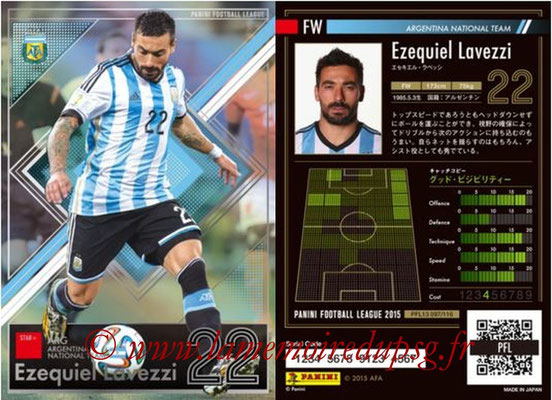 Panini Football League 2015 - PFL13 - N° 097 - Ezequiel LAVEZZI (Argentine) (Star +)
