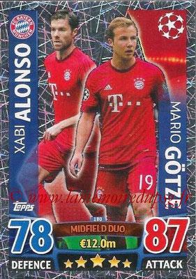2015-16 - Topps UEFA Champions League Match Attax - N° 180 - Xabi ALONSO + Mario GÖTZE (FC Bayern Munich) (Midfield Duo)