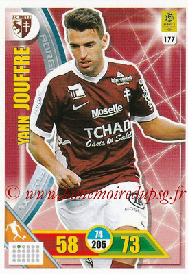 2017-18 - Panini Adrenalyn XL Ligue 1 - N° 177 - Yann JOUFFRE (Metz)