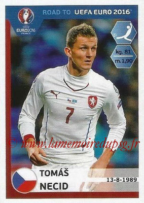 Panini Road to Euro 2016 Stickers - N° 048 - Tomas NECID (République Tchèque)