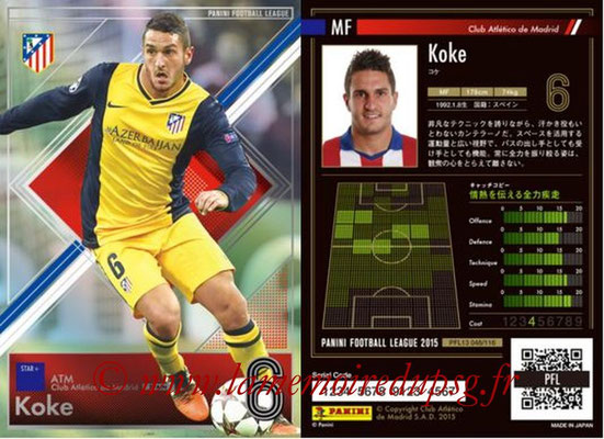 Panini Football League 2015 - PFL13 - N° 048 - KOKE (Club Atletico de Madrid) (Star +)