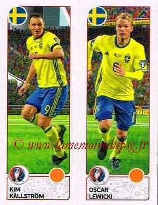 Panini Euro 2016 Stickers - N° 547 - Kim KALLSTROM + Oscar LEWICKI (Suède)