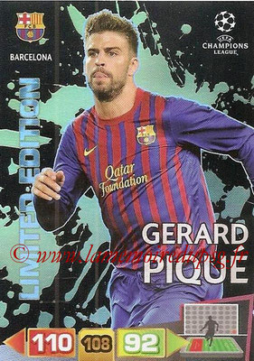 2011-12 - Panini Champions League Cards - N° LE03 - Gerard PIQUE (FC Barcelone) (Limited Editon)site