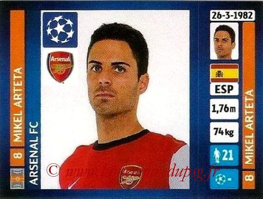 N° 414 - Mikel ARTETA (Janv 2001-02, PSG > 2013-14, Arsenal, ANG)