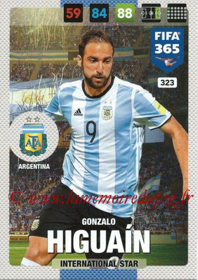 2016-17 - Panini Adrenalyn XL FIFA 365 - N° 323 - Gonzalo HIGUAIN (Argentine) (International Star)