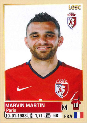 2014-15 - Panini Ligue 1 Stickers - N° 160 - Marvin MARTIN (Lille OSC)