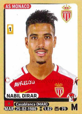 2015-16 - Panini Ligue 1 Stickers - N° 255 - Nabil DIRAR (AS Monaco)