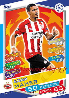 2016-17 - Topps UEFA Champions League Match Attax - N° PSV11 - Adam MAHER (PSV Eindhoven)
