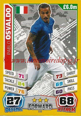 Topps Match Attax England 2014 - N° 153 - Pablo OSVALDO (Italie)