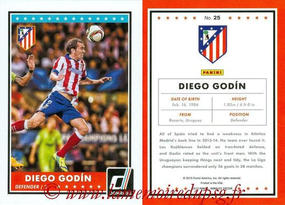 2015 - Panini Donruss Soccer - N° 025 - Diego GODIN (Atletico Madrid)