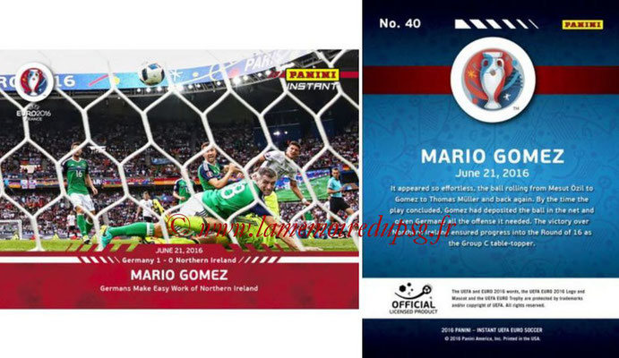 Panini Instant Euro 2016 - N° 040 - Mario GOMEZ