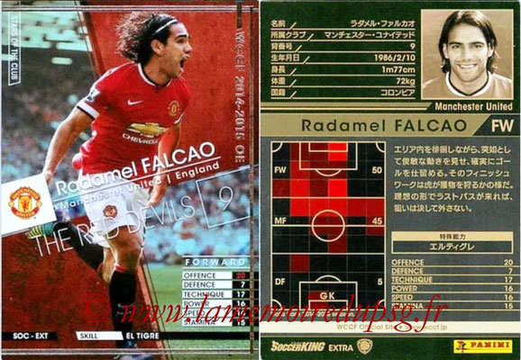 2014-15 - WCCF - N° SOC-EXT01 - Radamel FALCAO (Manchester United FC) (Stars of The Club) (Extra)