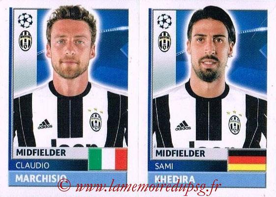 2016-17 - Topps UEFA Champions League Stickers - N° JUV 12-13 - Sami KHEDIRA + Claudio MARCHISIO (Juventus FC)