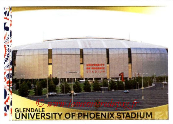 Panini Copa America Centenario USA 2016 Stickers - N° 012 - University of Phoenix Stadium Glendale